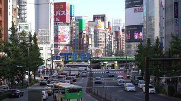 Crowded traffic at Shinjuku area in Tokyo, Japan video