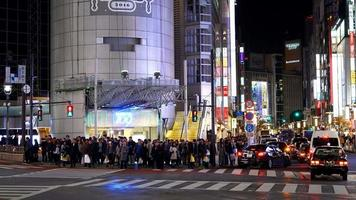 Crowded people at Shibuya area in Tokyo, Japan video