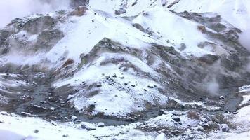 Jigokudani or Hell valley in Hokkaido, Japan video