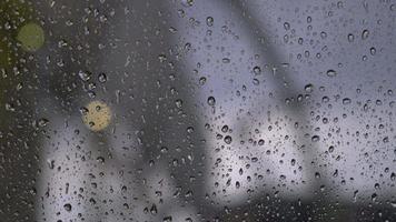 Raindrops on a window video