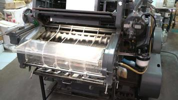 Old printing machine video