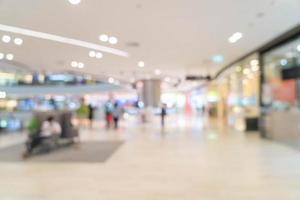 Abstract blur beautiful luxury shopping mall center photo