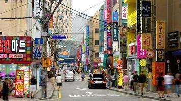 Time lapse Haeundae street in Busan, South Korea video