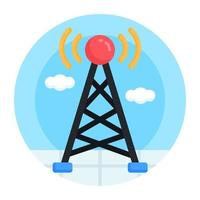 Network Signal and Tower vector