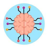 Ai Deep Brain vector