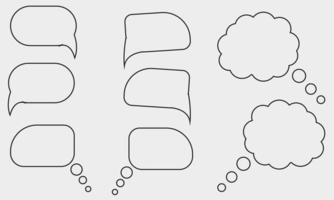 conjunto de burbujas de discurso vector