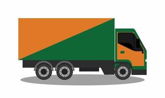 truck on a white background vector
