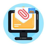 Email Media  Attachment vector