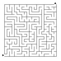 Abstract complex square isolated labyrinth. vector