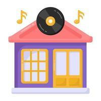tienda de música en DVD vector
