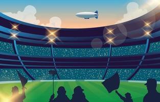 football stadium crowds vector