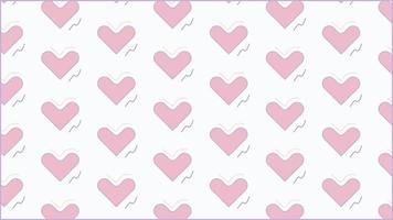 pastel pink heart shape seamless pattern free vector