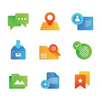 Set Of Ui Ux Element Icons vector