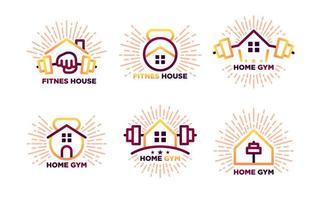 Home Gym Logo Template vector
