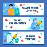 Set of Banners of Covid Vaccines vector