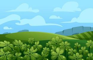 Green Clover Scenery Concept vector