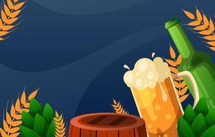 International Beer Day Concept vector