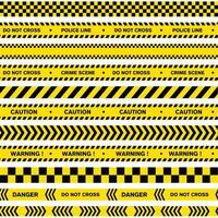 diseño de vector de policía de línea de advertencia