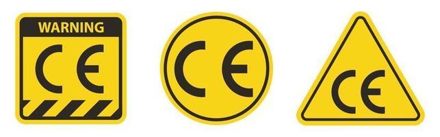 CE Mark Symbol Sign On White Background vector