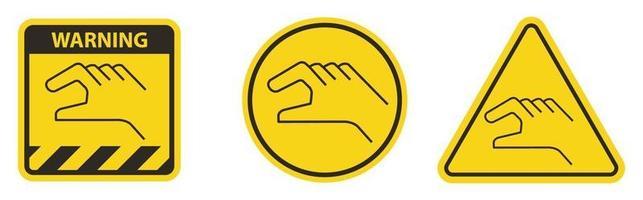 Signo de símbolo de control manual sobre fondo blanco. vector