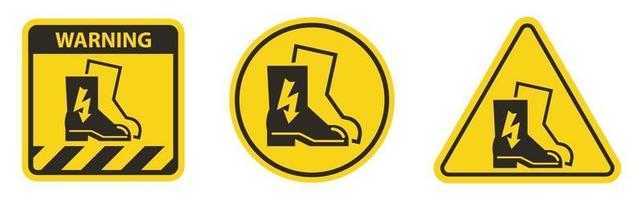 Symbol Wear Electric Shoes Sign Isolate On White Background vector