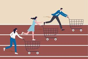 High demand products, sale season e-commerce discount website vector