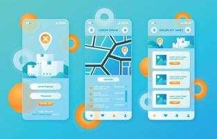 Glassmorphic UI Apps Mockup vector