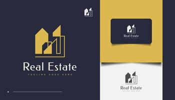 Abstract and Minimalist Real Estate Logo Design vector