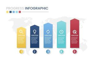 Progress Chart Infographic vector