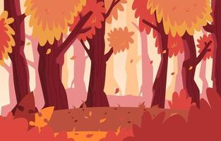 Forest  Scenery In Autumn vector