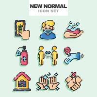 New Normal Icon Set vector
