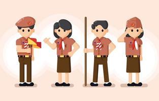 Indonesia Pramuka Character vector