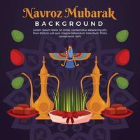 Parsi Navroz Celebration vector
