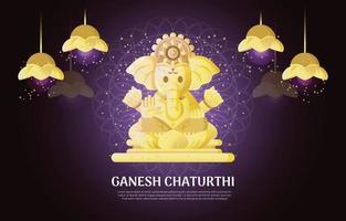 Ganesh Chaturthi Background vector