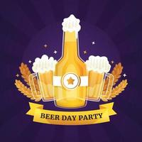 Linear beer day party illustrations vector