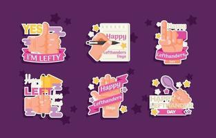 Left Handers Day Sticker vector