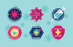 COVID-19 Vaccinated Sticker vector