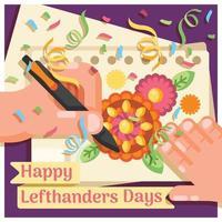 Happy Left Handers Day vector