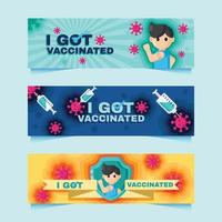 Got Vaccinated Banner vector