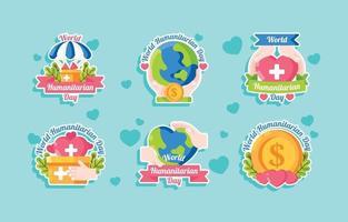 World Humanitarian Day Sticker vector