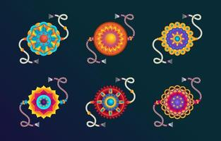 Braclet Colorful Collection vector