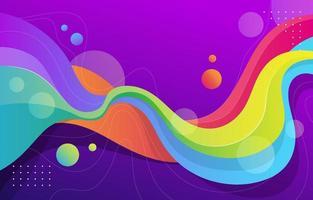 fondo colorido fluido vector