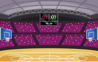 Indoor Basketball Court vector