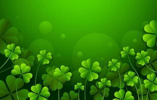 Clover with Green Background vector