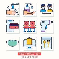 Contactless Activity in New Normal Era Icon vector