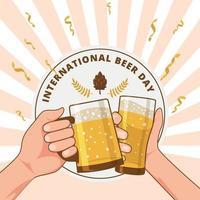 International Beer Day Background vector
