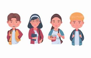 University Student Characters vector