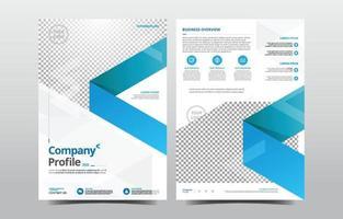 Company Profile Blue Template vector
