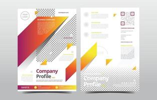 Company Profile Template with Yellow Gradient vector