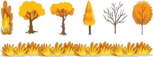 árbol general otoño icono de otoño vector